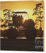 Sunset Buggy Wood Print by Lynda Dawson-Youngclaus