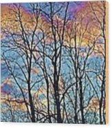 Sunset Cloud Colors  4 Wood Print