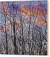 Sunset Cloud Colors 9 Wood Print