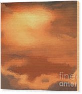 Sunset Clouds Wood Print by Pixel Chimp