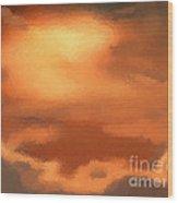 Sunset Clouds Wood Print