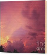 Sunset Color Wood Print