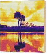Sunset Colour Wood Print