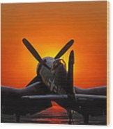 Sunset Corsair Wood Print