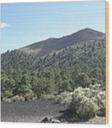 Sunset Crater Volcano Wood Print
