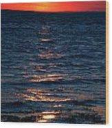 Sunset Denmark Samsoe Island Wood Print