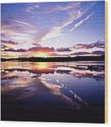 Sunset, Dinish Island Kenmare Bay Wood Print