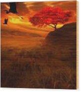 Sunset Duet Wood Print