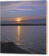 Sunset Egg Harbor Wood Print