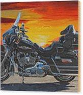Sunset Electraglide Wood Print