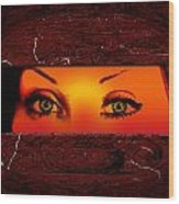 Sunset Eyes Wood Print
