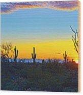 Sunset For You Wood Print