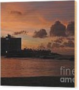 Sunset From Street Level Wood Print