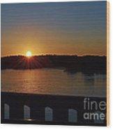 Sunset From The Bridge Wood Print