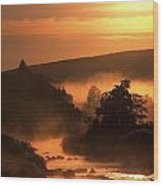 Sunset, Glendalough Glendalough, Co Wood Print