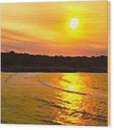 Sunset Glow Wood Print