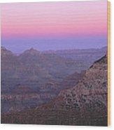 Sunset Hues At Grand Canyon Wood Print