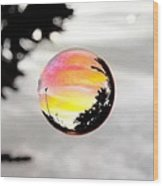 Sunset In A Bubble Wood Print