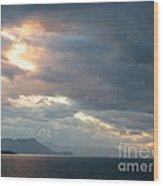 Sunset In Alaska Wood Print
