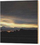 Sunset In Badlands Wood Print