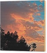 Sunset In Calm Skies Two Wood Print