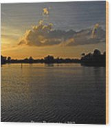 Sunset In Clearwater Florida Wood Print