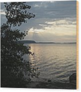 Sunset In Door County Wood Print