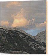 Sunset In Jasper Wood Print