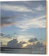Sunset In Majuro Wood Print