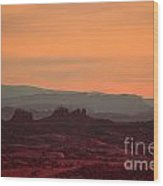 Sunset In Moab Wood Print