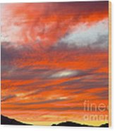 Sunset In Motion Wood Print