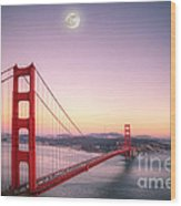 Sunset In San Francisco Wood Print