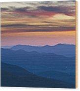Sunset In Shenandoah National Park Wood Print