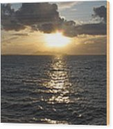 Sunset In The Black Sea Wood Print