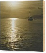 Sunset In The Bvi Wood Print