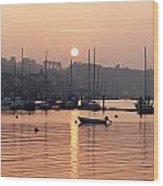 Sunset In The Harbor Crosshaven County Wood Print