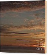 Sunset In The Pacific Ocean 3 Wood Print