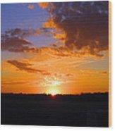 Sunset In Wayne County Wood Print