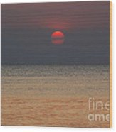 Sunset In Zanzibar Wood Print