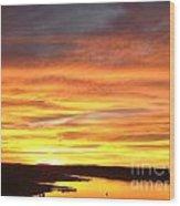 Sunset Lake Travis Wood Print