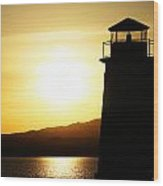 Lake Havasu Sunset Lighthouse Wood Print