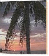 Sunset Montego Bay Wood Print