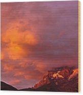 Sunset Murren Switzerland Wood Print