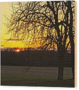 Sunset Near The Jersey Shore Wood Print