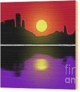 Sunset No. 3 Wood Print
