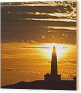 Sunset Obelisk Wood Print