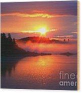 Sunset On Campobello Island  Wood Print
