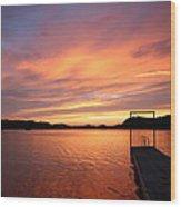 Sunset On Chilhowee Wood Print