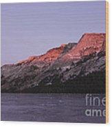 Sunset On Frozen Tenaya Lake Wood Print