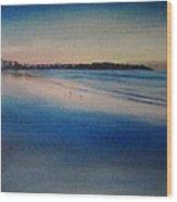 Sunset On Hampton Beach Wood Print by Mark Haley
